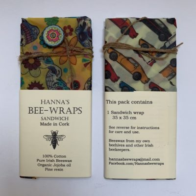 Bee Wraps Sandwich Pack Sustainable Hannas