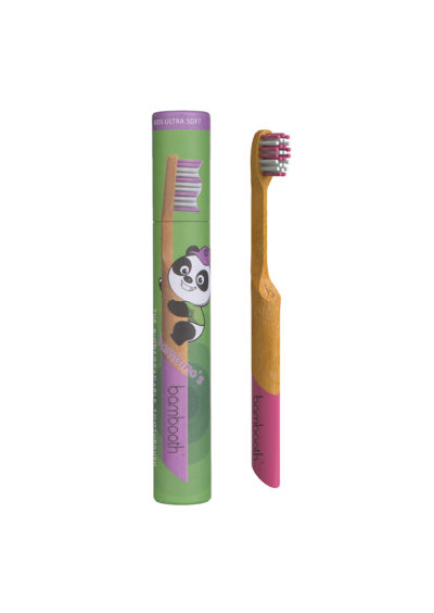 Pink Bamboo Toothbrush for children