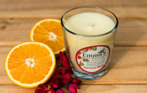 Sustainable Soy Candle Harmony Rose Geranium and Orange