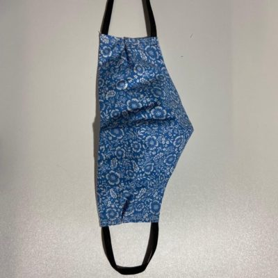 Reusable Face Mask Blue Pattern Ladies