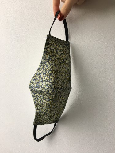 Reusable Face Mask Lemon and Navy Print