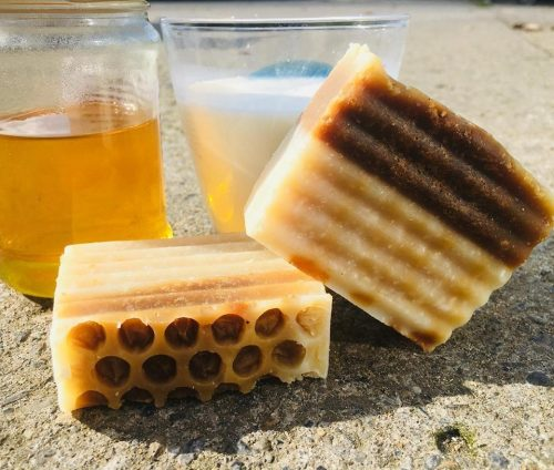 Natural Shampoo and Body Soap Bar in One Honey and Milk Janni Bars