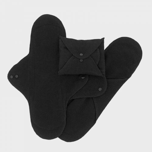 Imse Vimse Night Pads 3 Pack Black Sustainable Period